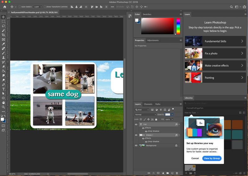 Working with Panels in Photoshop CC